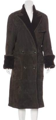 Ralph Lauren Purple Label Shearling Long Coat