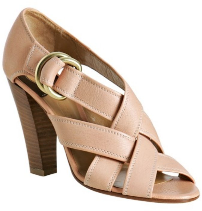 Chloe rose leather 'Radica' sandals
