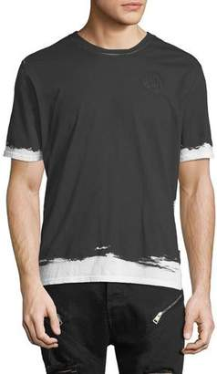 Just Cavalli Painted-Trim Cotton T-Shirt
