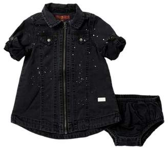 7 For All Mankind Zip Front Dress (Baby Girls)