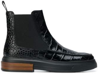 Tod's croc-effect boots