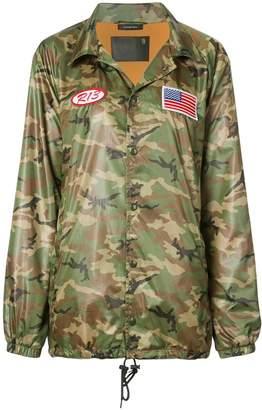 R 13 oversized camouflage jacket