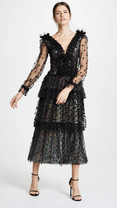 Rodarte Tulle and Sequin Tiered Dress