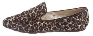 Jimmy Choo Patterned Square-Toe Loafers