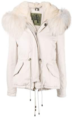 Alessandra Chamonix racoon fur trimmed hooded parka