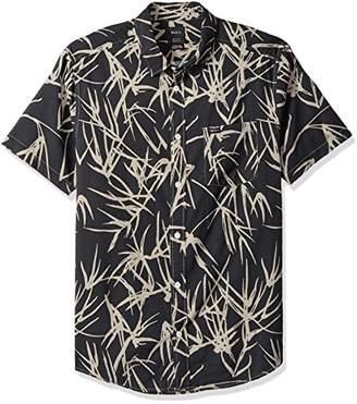 RVCA Men's Bamboo Short Sleeve Woven Button Down Shirt