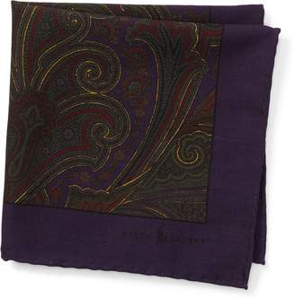 Ralph Lauren Paisley Wool Pocket Square