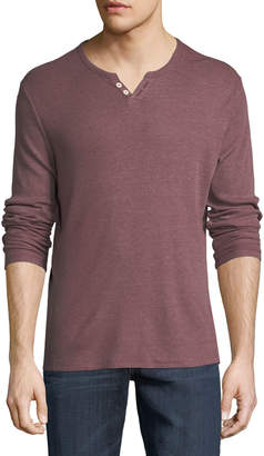Joe's Jeans Wintz Long-Sleeve Henley, Dark Orange