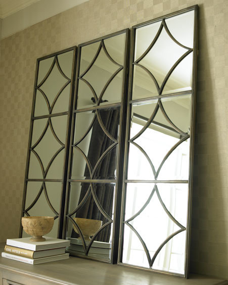 Geometric Mirrored Wall Panel