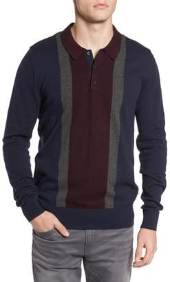 Ben Sherman Colorblock Long Sleeve Polo