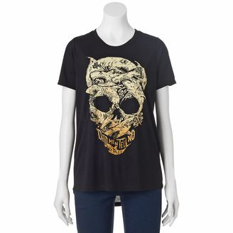 Disney's Pirates of the Caribbean: Dead Men Tell No Tales Juniors' Shark Skull Graphic Tee $24 thestylecure.com