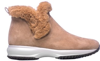 Hogan Suede Interactive Ankle Boots
