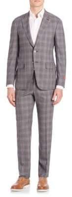 Isaia Plaid Wool Suit