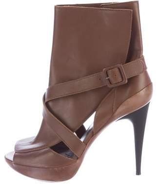 Marni Peep-Toe Ankle Boots