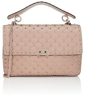 Valentino Women's Rockstud Large Leather Shoulder Bag