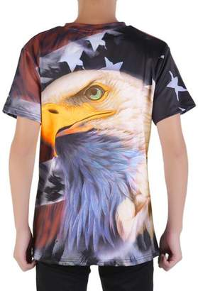 LESHP American Style Animal Personality Men\'S Casual Short Sleeve Summer O-Neck Shirts Comfortable Hip Hop T-Shirt
