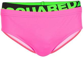 DSQUARED2 neon swim briefs