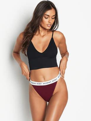 Victoria's Secret Stretch Cotton Logo High-Leg Bikini Panty