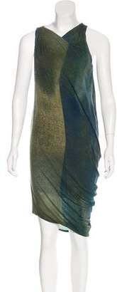 Helmut Lang Wool Ombré Dress
