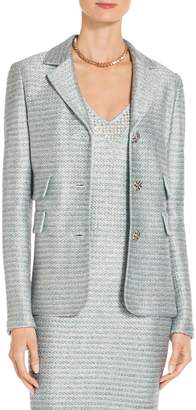 St. John Gleam Metallic Knit Jacket