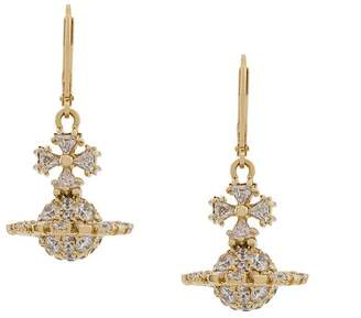 Vivienne Westwood crystal logo earrings