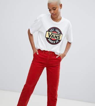 Vans Orange Corduroy Wide Leg Pants
