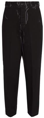 Prada Straight Leg Dyed Jeans - Mens - Black Multi