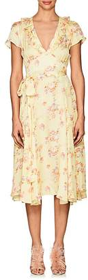 By Ti Mo byTiMo Women's Floral Open-Back Wrap Dress