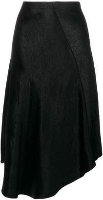 Vince creased asymmetric skirt