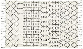 One Kings Lane Carson Flat-Weave Rug - Ivory/Black