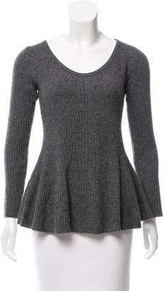 Neiman Marcus Cashmere Rib Knit Sweater