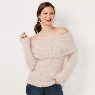 Lauren Conrad Women's Off-the-Shoulder Sweater