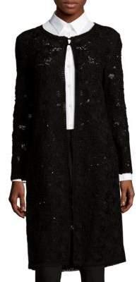 Oscar de la Renta Needlework Long Coat