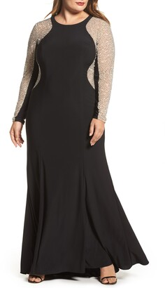 Xscape Evenings Embellished Jersey Gown