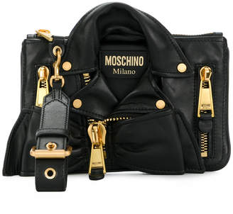 Moschino leather jacket bag