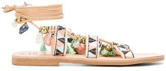 Mabu beaded flat sandals