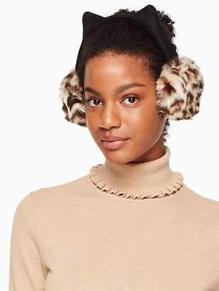 Kate Spade Faux leopard earmuff with ears