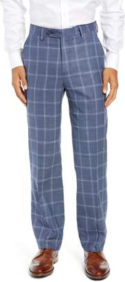 Berle Manufacturing Flat Front Plaid Wool Trousers