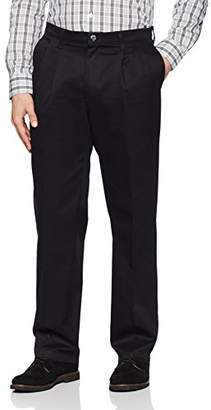 Lee Men's Total Freedom Stretch Relaxed Fit Pleated Front Pant