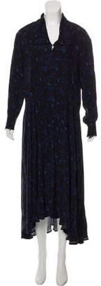Creatures of Comfort Long Sleeve Printed Midi Dress