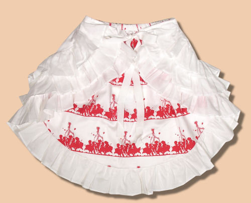 Paper Wings Red May Pole Reversible Skirt
