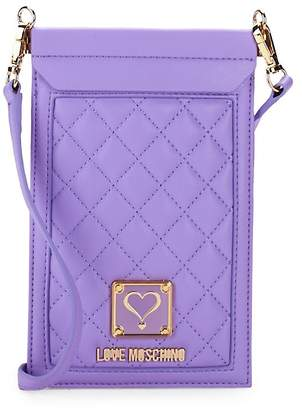 Love Moschino Women's Quilted Cell Phone Case