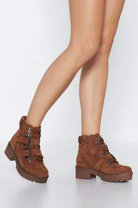Nasty Gal Land On Your Feet Faux Suede Boot