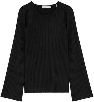 Vince Black Cut-out Cashmere Jumper