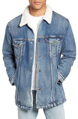 Levi's Long Faux Fur Lined Trucker Jacket