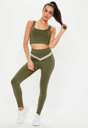 Missguided Active Khaki Full Length Gym Legging