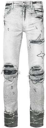 Amiri grey skinny jeans