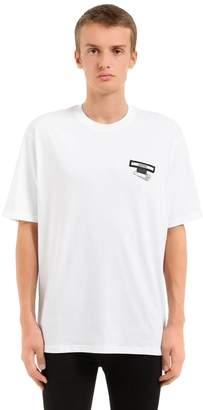 Versus Safety Pin Cotton Jersey T-Shirt