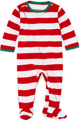 North Pole Trading Co North Pole trading Co. Red and White Stripe Family 1 Piece Pajama - Unisex Baby