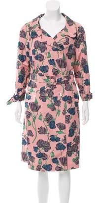 Prada Floral Silk Coat